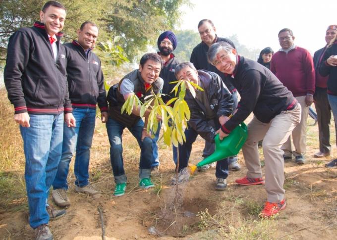 Mitsubishi Electric India Plants Trees