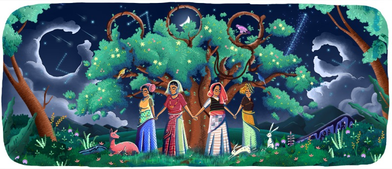 Google Doodle Chipko Andolan