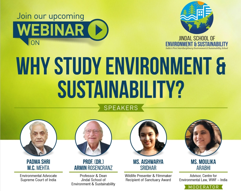Webinar on Why Study Environment and Sustainability by JSES