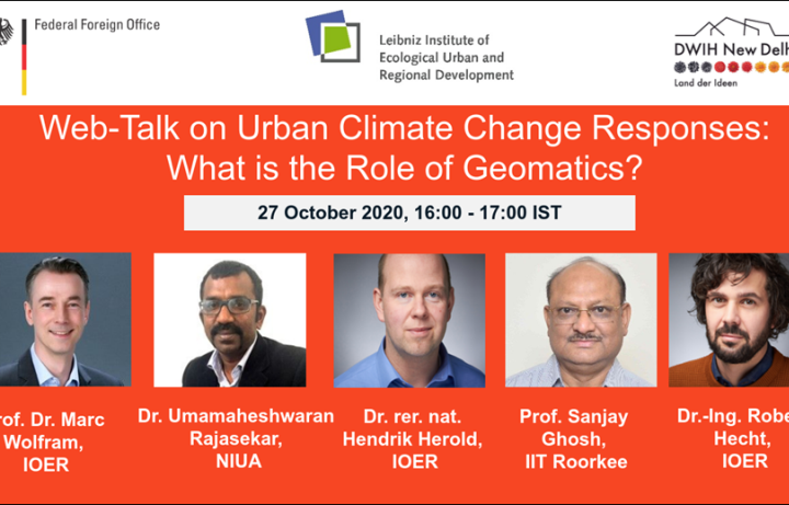 Webtalk on Role of Geomatics in Urban Climate Change Responses