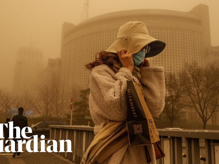 Sandstorm and Pollution Turn Beijing Sky Orange